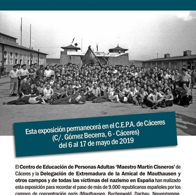 La exposición «Republicanos españoles en campos nazis» puede verse hasta el 17 de mayo en el CEPA de Cáceres.