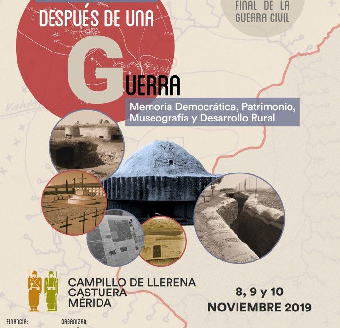 Congreso «Patrimonio después de una guerra. 1939-2019»